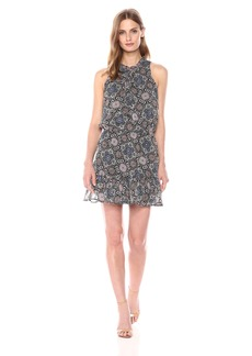 BB Dakota Women's January Printed Tie Front Dress