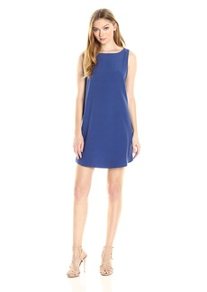 BB Dakota Women's Jodi Open Back Crepe Shift Dress
