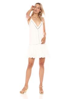 BB Dakota Women's Karleen Eyelet Drop Waiste Dress  Extra Small