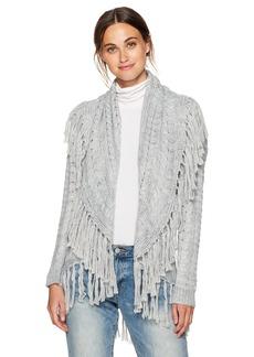BB Dakota Women's Karli Fringe Detailed Sweater Cardigan