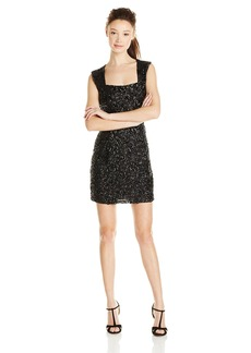 BB Dakota Women's Keetan Sequin Patterened Dress