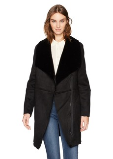 BB Dakota Women's Kelden Faux Suede Shearling Coat