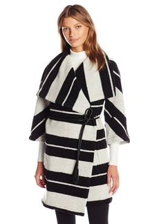 BB Dakota Women's Kendall Striped Wrap Jacket