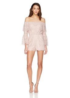 BB Dakota Women's Kennedy Lace Off The Shoulder Romper