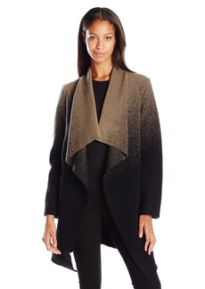 BB Dakota Women's Kinney Ombre Drape Front Coat