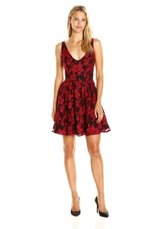 BB Dakota Women's Lanson Lace Fit N Flare Dress