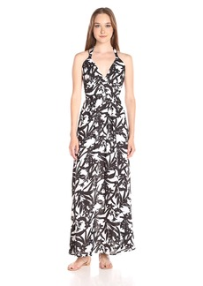 BB Dakota Women's Larissa Lotus Printed Reverse Crepon Strappy Maxi Dress