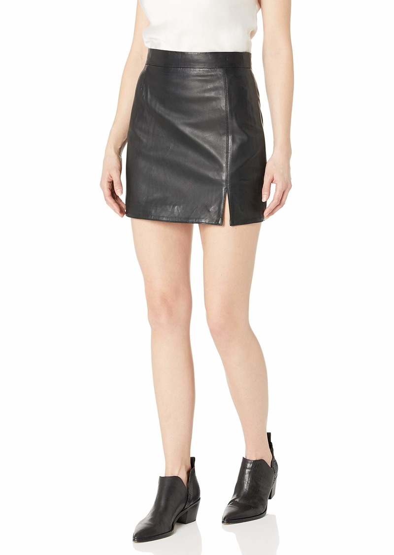 BB Dakota Women's Leather Mini Skirt