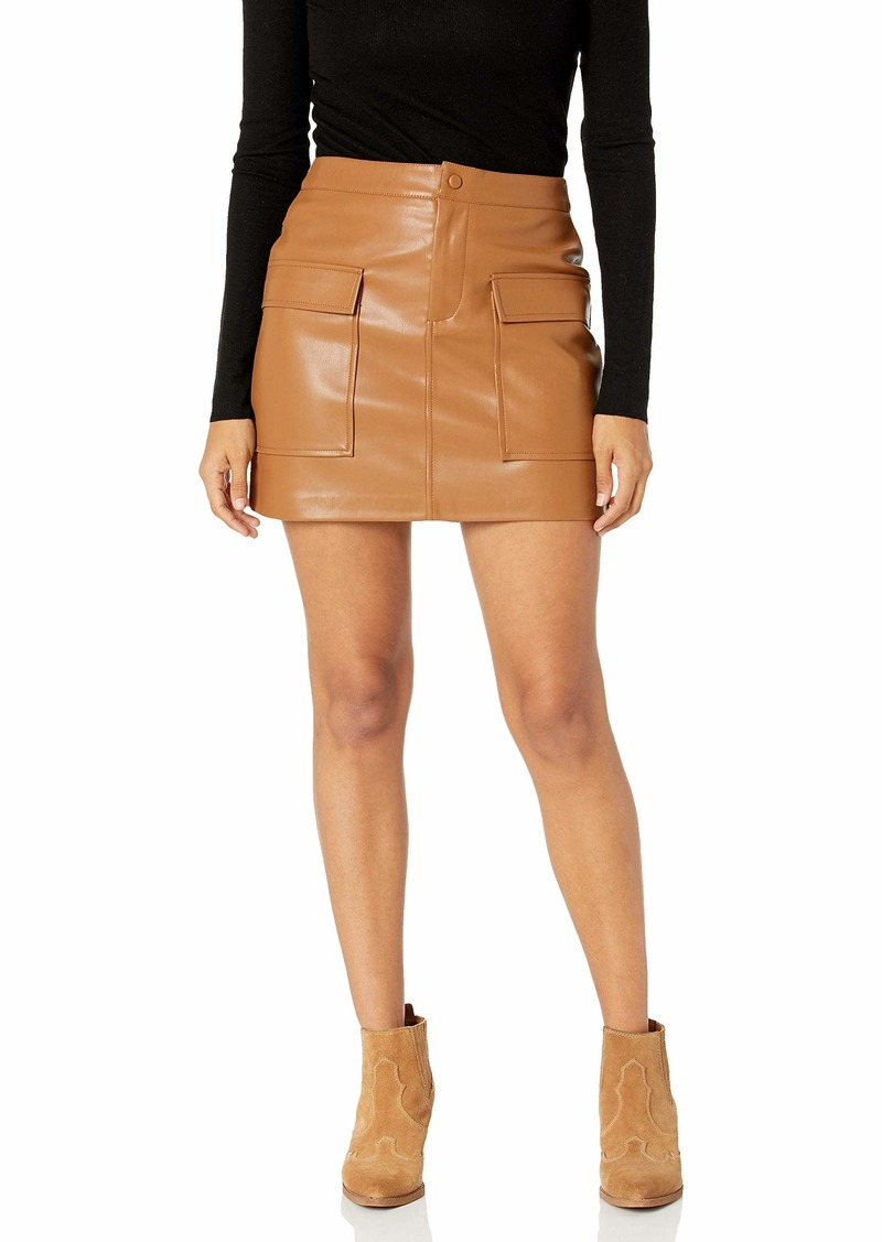 BB Dakota Women's Leather Too Late Skirt