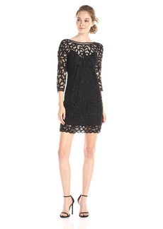 BB Dakota Women's Leigh Soutache Long Sleeve Lace Dress  Small