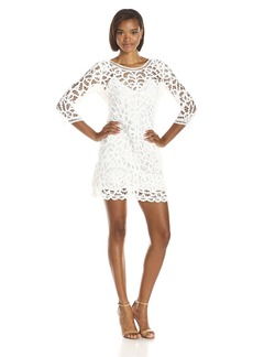 BB Dakota Women's Leigh Soutache Long Sleeve Lace Dress