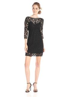 BB Dakota Women's Leigh Soutache Long Sleeve Lace Dress