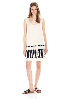 BB Dakota Women's Lennon Tie Die Print Shift Dress