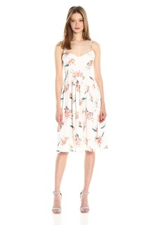 BB Dakota Women's Lila Floral Print Midi Dress