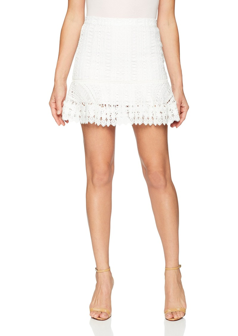 BB Dakota Women's Lucine Lace Ruffle Skirt