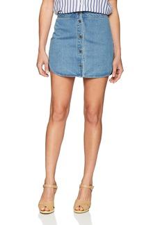 BB Dakota Women's Macyn Button Front Denim Skirt