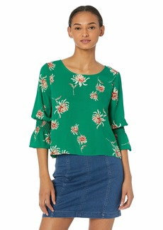 BB Dakota Womens Made My Day Printed CDC top pepper green extra small