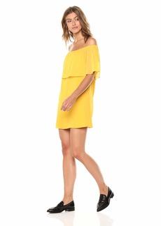 BB Dakota Women's Manic Pixie Dream Off The Shoulder Dress