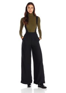 BB Dakota Women's Mara Crepe Suspender Pants