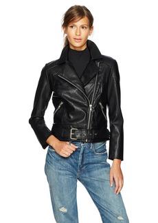 BB Dakota Women's Maria Vegan Leather Moto Jacket