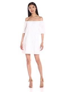 BB Dakota Women's Marnie Floral Gauze Off-The-Shoulder Dress