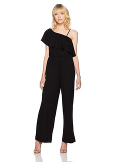 BB Dakota Women's Maryana One Shoulder Ruffle Jumpsuit