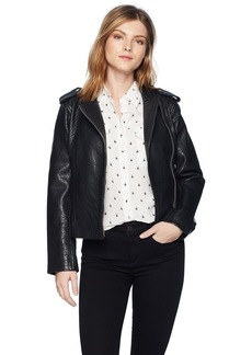 BB Dakota Women's Mathew Leather Moto Jacket