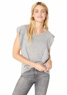 BB Dakota Women's Milkey Way Ruffle Knit Top