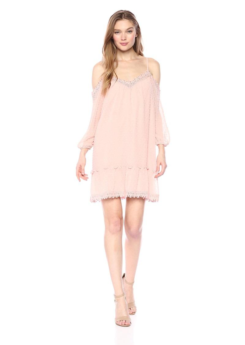 BB Dakota Women's Millie Swiss Dot Shift Dress  Extra Small