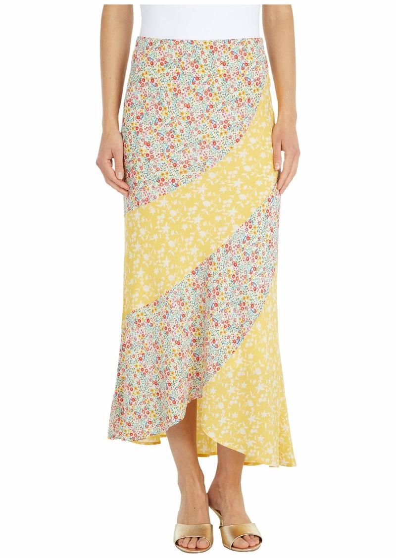 BB DAKOTA Women's Mixed Print Buble Crepe Skirt  Extra Small