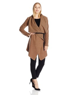 BB Dakota Women's Nico Boiled Wool Jacket with Faux Suede Belt