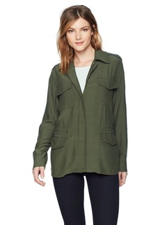 BB Dakota Women's Nico Studded Military Jacket sage Extra Small
