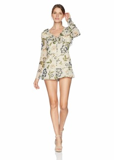 BB Dakota Women's No Ordinary Love Printed Romper