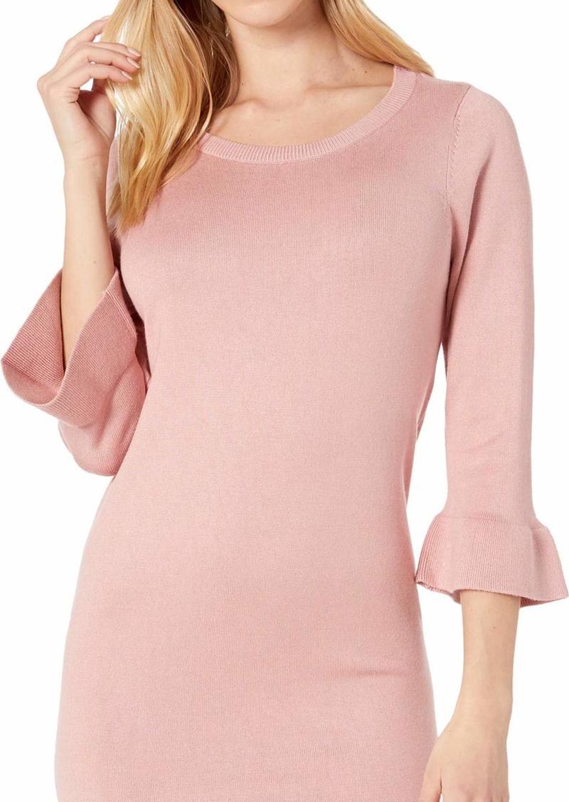 BB Dakota womens Now or Never Ruffle Sweater Dress rose blush extra small