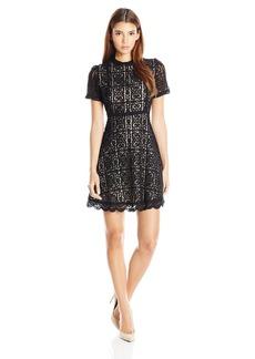 BB Dakota Women's Adelina Lace Fit N Flare Dress