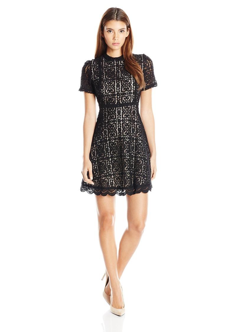 BB Dakota Women's Adelina Lace Fit N Flare Dress  2