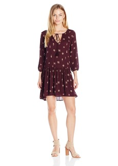 BB Dakota Women's Camley Printed CDC Dress with Tassels