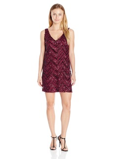 BB Dakota Women's Mayfair Zig Zag Sequin Shift Dress