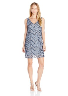 BB Dakota Women's Mayfair Zig Zag Sequin Shift Dress  X-Small