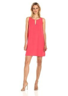 BB Dakota Women's Phoebe Key Hole Crepe Shift Dress