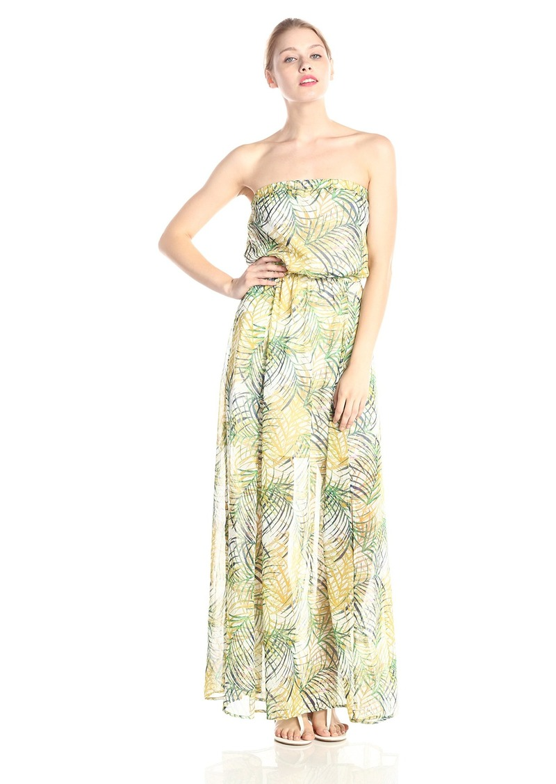 BB Dakota Women's Piper Cool Grass Crinkle Chiffon Maxi Dress