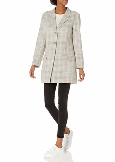 BB DAKOTA Women's Plaid Behavior Blazer  L