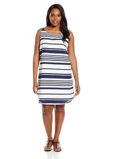 BB Dakota Women's Plus Size Armie Striped a-Line Dress  1X