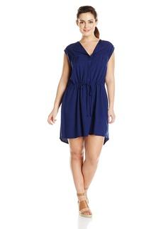 BB Dakota Women's Plus-Size Merrian Rayon Challi Drawstrong Waist Dress  1X