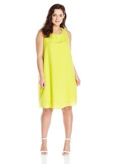 BB Dakota Women's Plus-Size Selena Hammered Crepe Shift Dress  2X