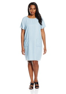 BB Dakota Women's Plus Size Xena Denim Tencel Shirt Dress  1X