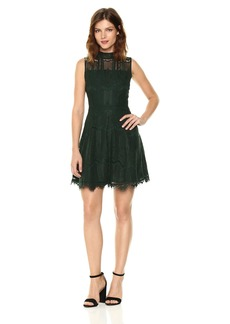 BB Dakota Women's Reese Lace Fit N Flare Dress