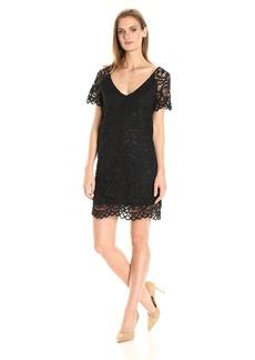 BB Dakota Women's Rene Scallop Lace Shift Dress