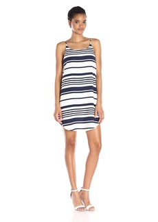 BB Dakota Women's Riley Striped Crepon Dress