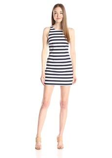 BB Dakota Women's Robinson Stripe Cutout Back Dress